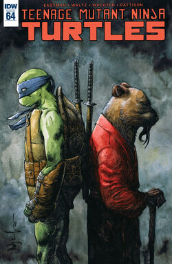 TMNT -64 Regular Cover by Dave Wachter