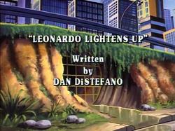 Leonardo Lightens Up Title Card