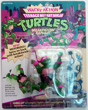 1989 WACKY *** BREAKFIGHTIN RAPH RAPHAEL 1 *** TEENAGE MUTANT NINJA TURTLES TMNT