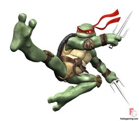 Raphael flying kick