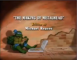 The Making of Metalhead Title Card