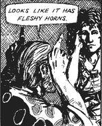 Fleshy horns