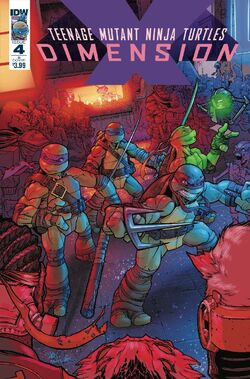 TMNT- Dimension X -4 Alternate Cover by Chris Johnson