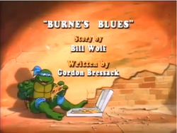 Burne's Blues Title Card