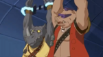 Bebop Rocksteady tied up