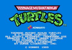 TMNT Arcade Title Screen