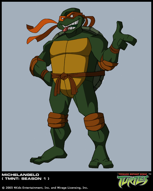 tmnt 2003 michelangelo coloring pages - photo#35