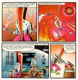 Flaming Carrot in action