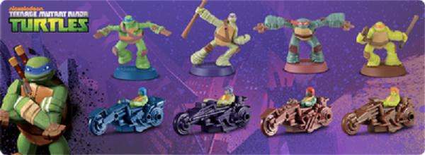 Teenage Mutant Ninja Turtles Mcdonald S Toys 2007 2012
