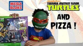 Teenage Mutant Ninja Turtles Mega Bloks Mikey Pizzeria Showdown - boooly toys