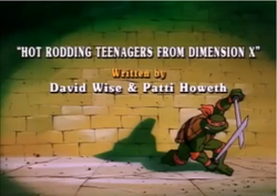 Hot Rodding Teenagers From Dimension X Title Card