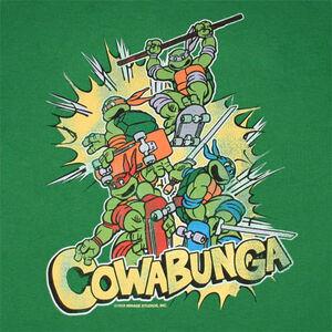 TMNT Cowabunga Green Shirt