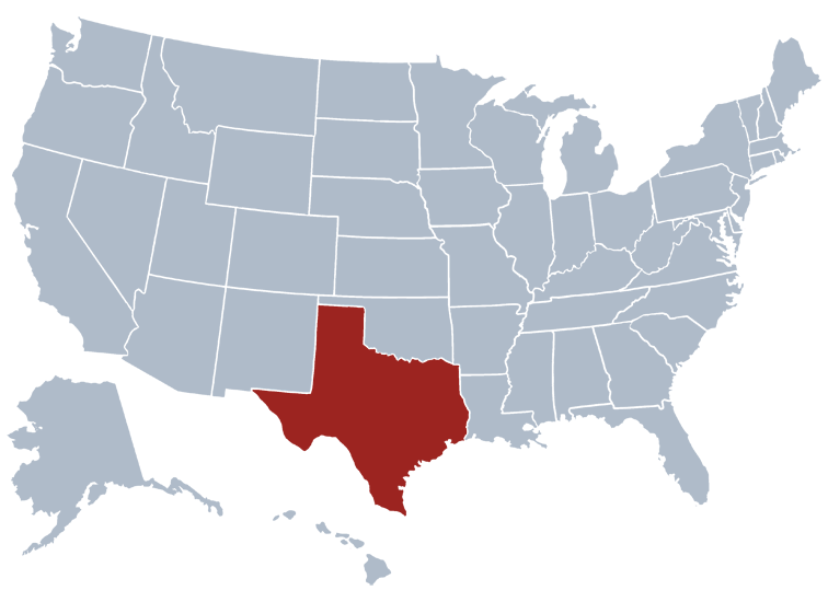 Texas In Us Map