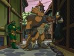 Raphael and Traximus interrogate