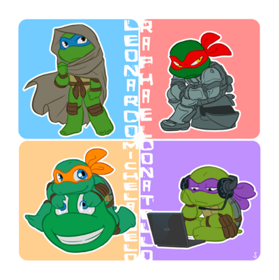 Turtles on duty by sneefee-d3ow0wn