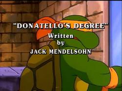 Donatello's Degree Title Card