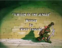 Turtles of the Jungle Title Card