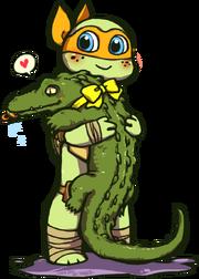 Tmnt pet gator by junkiemilk-d5ro9ym