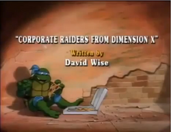 Corporate Raiders rom Dimension X Title Card