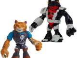 Half-Shell Heroes Tiger Claw and Newtralizer (2014 action figures)
