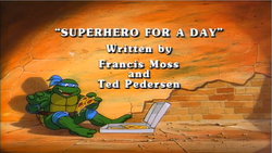 Superhero For a Day Title Card