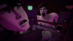 321–Casey VS Oroku Saki clone mutant