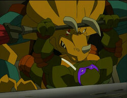 Teenage-mutant-ninja-turtles-season-2-3-turtles-in-space-part-3-the-big-house-donatello-vs-triceraton-tmnt-2003