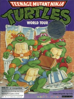 Teenage Mutant Ninja Turtles World Tour Is A 1990 Computer Game Made By Brian Rice Inc And Published Konami This Coloring Book Another