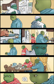 Turtles in casual clothes