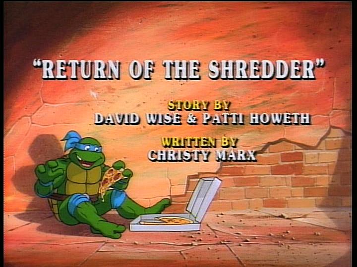Return Of The Shredder Tmntpedia Fandom Powered By Wikia