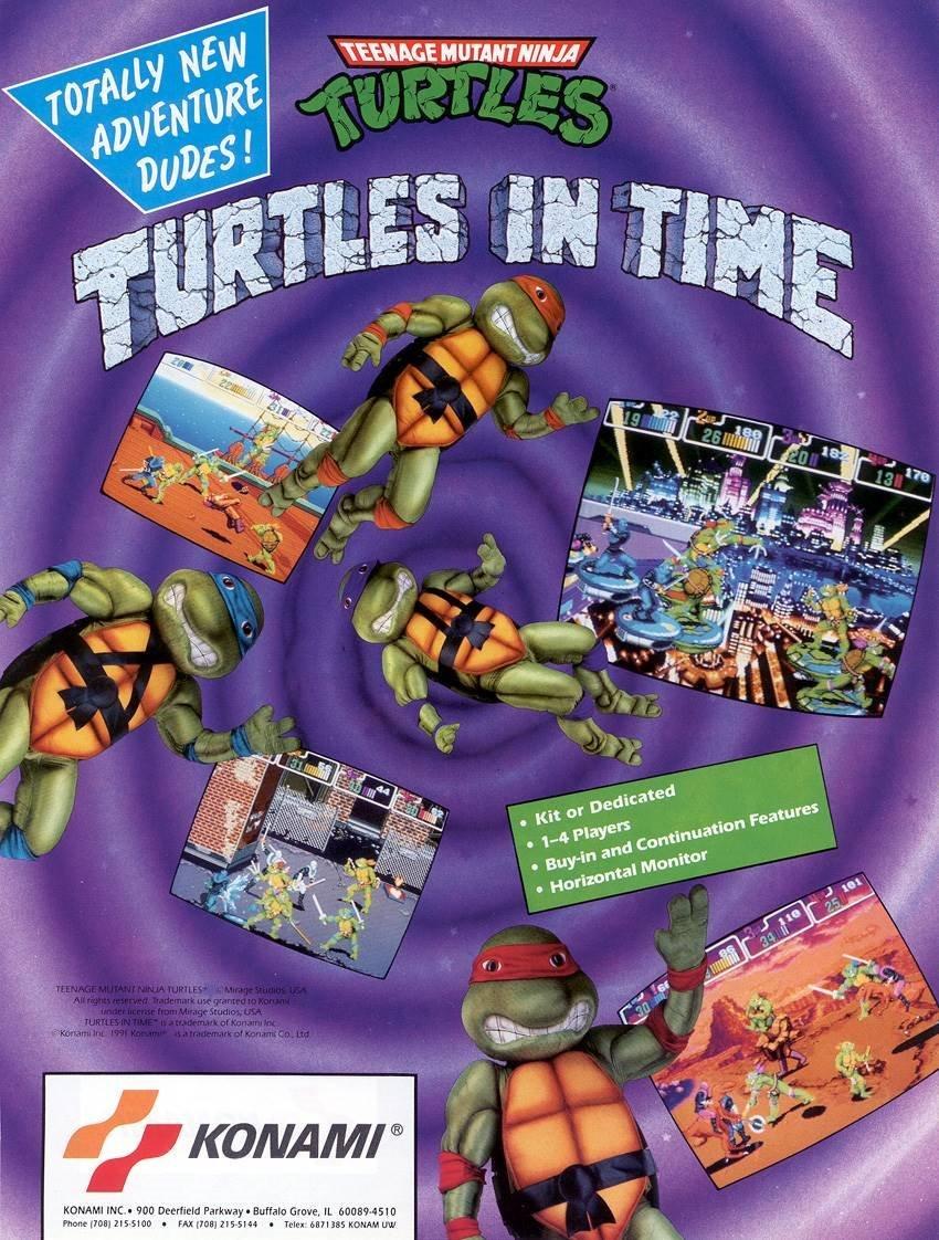 Teenage Mutant Ninja Turtles Turtles In Time Video Game
