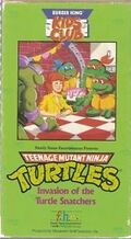 TMNT Invasion of the Turtle Snatchers VHS