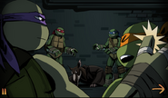 Donnie slaps Mikey (Comic)