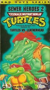 TMNT Turtles vs. Leatherhead VHS