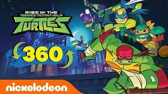 EPIC 360° Ninja Turtles Rooftop Laser Battle Rise Of The TMNT Nick