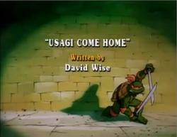Usagi Come Home Title Card