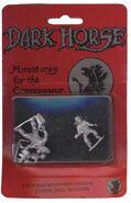 Dark Horse TMNT miniatures Fugitoid, Casey Jones, Triceraton