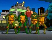 Leo,Raph,Don, Mikey and Casey 1