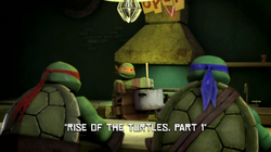 Rise of the Turtles, Part 1 title
