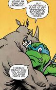 Rocksteady hugs Leonello