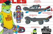 Mondo Gecko's Skateboard (IDW)