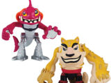 Half-Shell Heroes Fishface and Dogpound (2014 action figures)