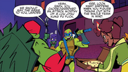 Raph, Donnie, Leo, and April