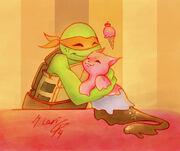 Tmnt a friend for mikey by dglari-d791c5o