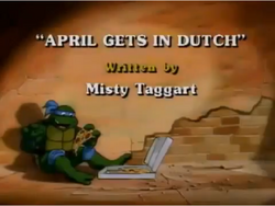 April Gets in Dutch Title Card