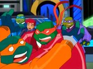 Raph tackles Mikey