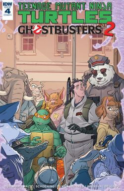 TMNT Ghostbusters 2 4 cover