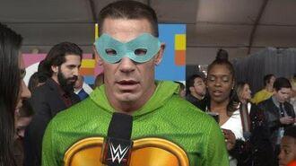 John Cena loves him some Leonardo on the orange carpet for Nickelodeon's 2018 Kids' Choice Awards