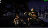 Mikey showing Snake