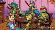 Chloe and turtles have tea